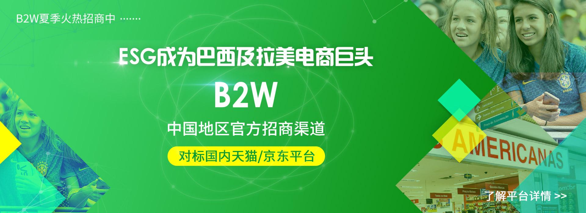 巴西本土最大的电商平台B2W